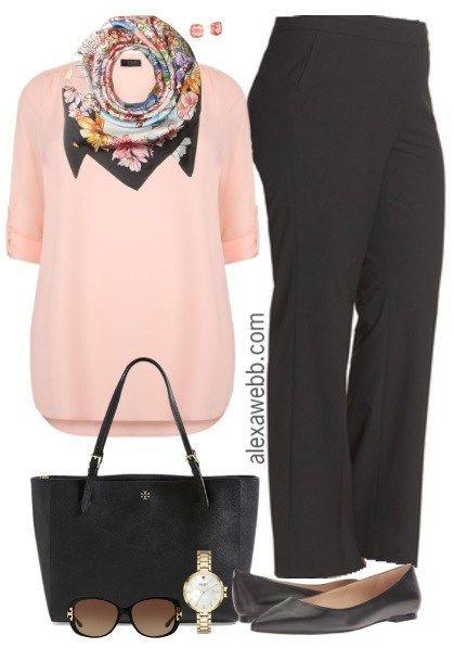 16aef1c43bcc Plus Size Spring Business Casual Outfit - Plus Size Fashion for Women -  alexawebb.com  alexawebb