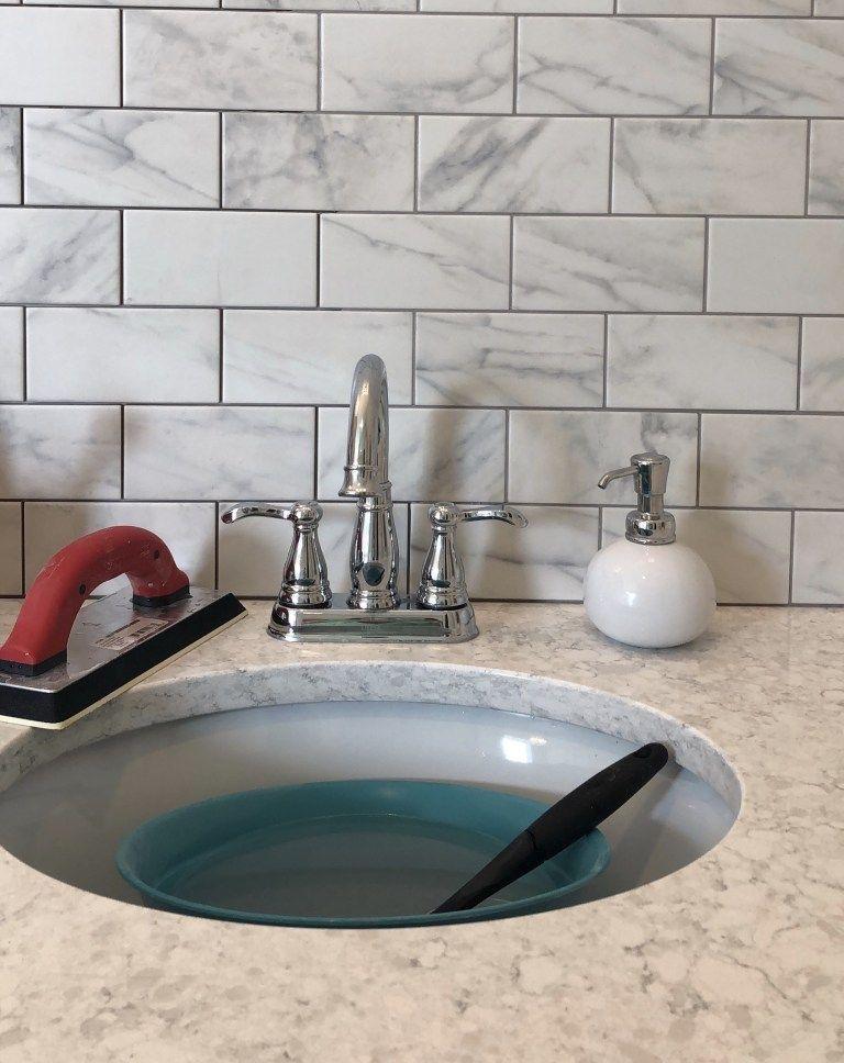 Diy Easy Bathroom Tile Wall Frills And Drills Tile Bathroom Bathroom Wall Tile Simple Bathroom
