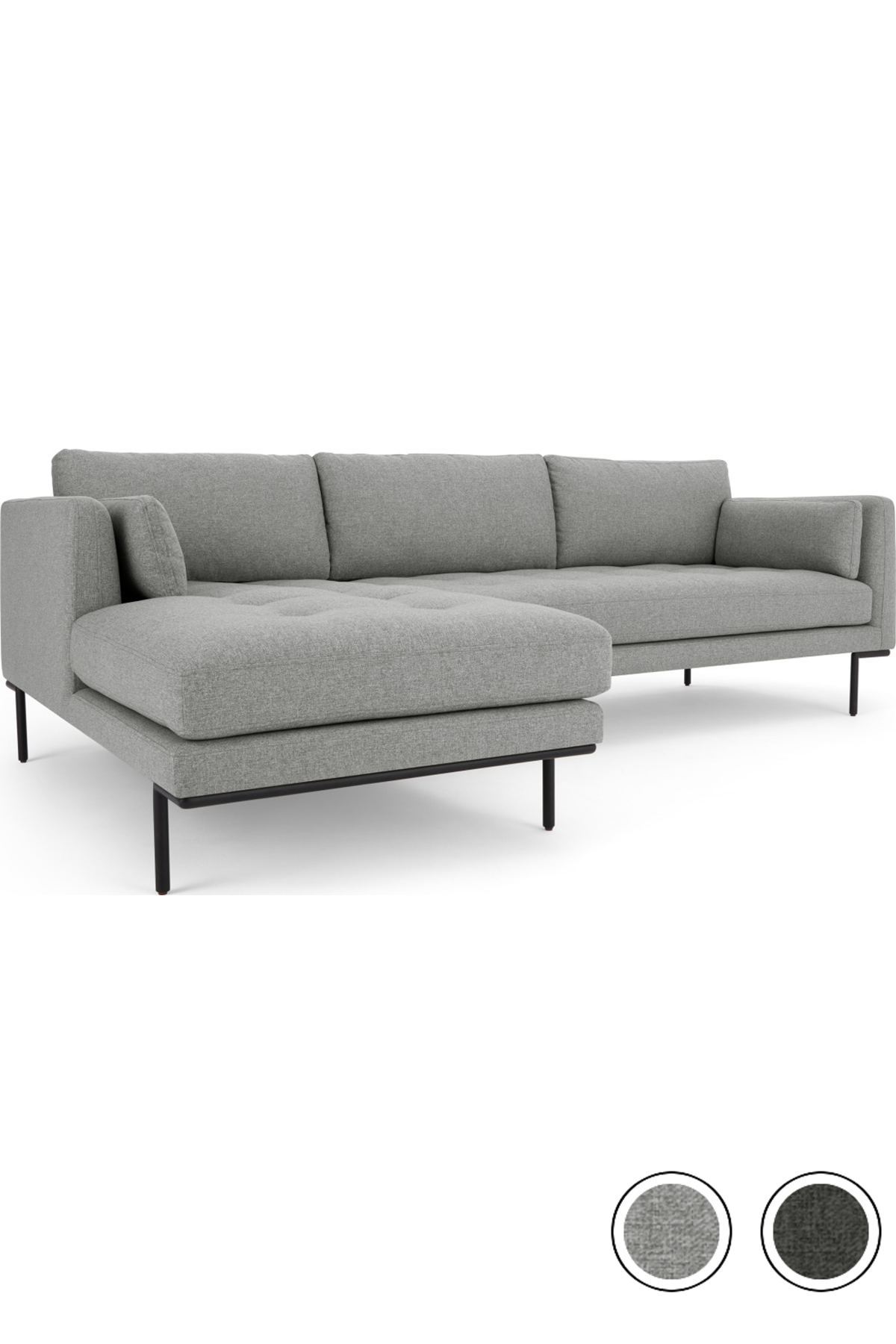 Made Chaise End Corner Sofa Mountain Grey New Harlow From Made Com Chaise Sofa Living Room Corner Sofa Sofa