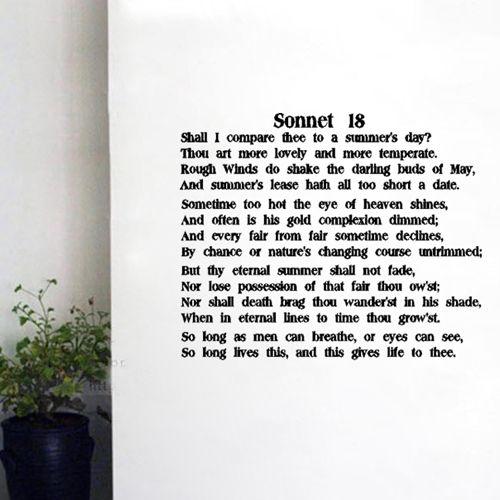 sonnet xviii summary