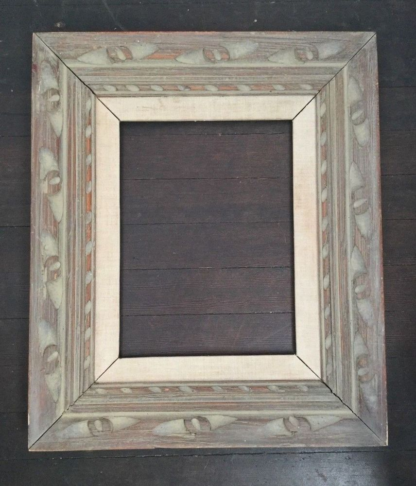 Vintage Wood Picture Frame Ornate Carved Gray Distressed 16x19 ...