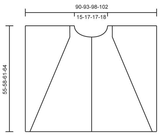 """Dove - Gestrickter DROPS Poncho in """"Nepal"""" und """"Kid-Silk"""" mit Zöpfen und Strukturmuster. Größe S - XXXL. - Free pattern by DROPS Design"""