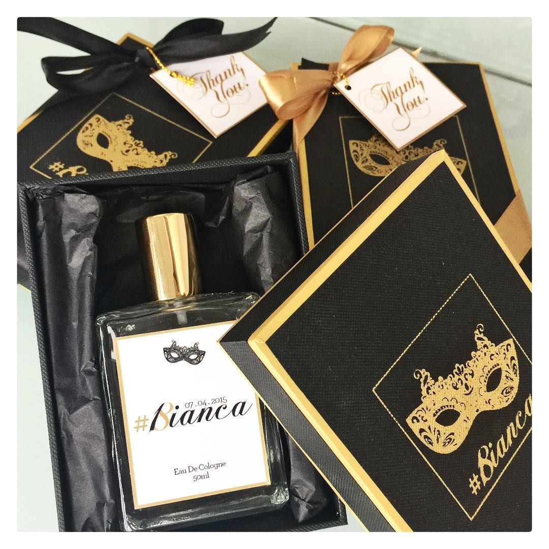 Black Gold Favors For Masquerade Themed Debut Made By Bc