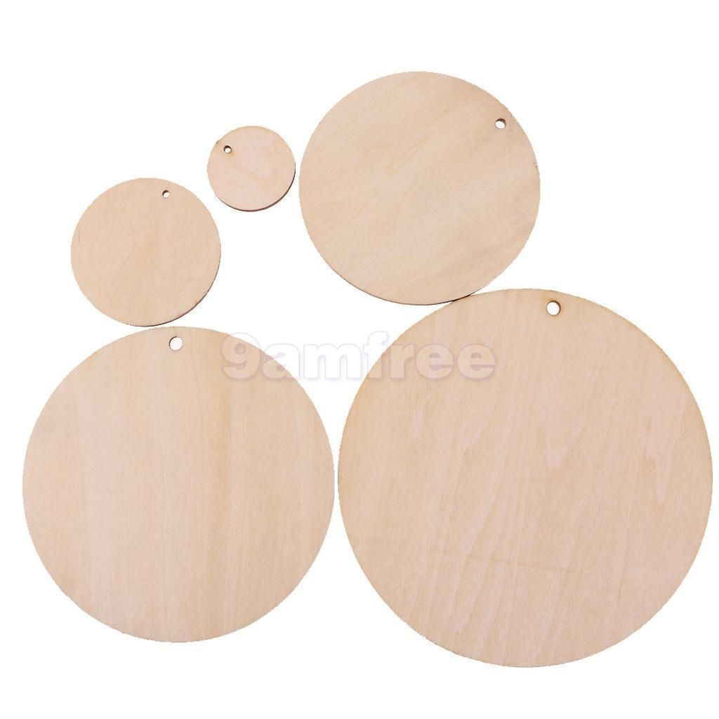 6 36aud Lots Blank Unfinished Round Wood Pieces Slice Gift Tags With Hole For Craft Diy Ebay Home Garden Wood Cutouts Wood Pieces Wooden Gifts