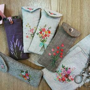 #Embroidery#stitch#needle work #프랑스자수#일산프랑스자수#자수#자수타그램#자수소품#안경 집 #안경집 만들기~~