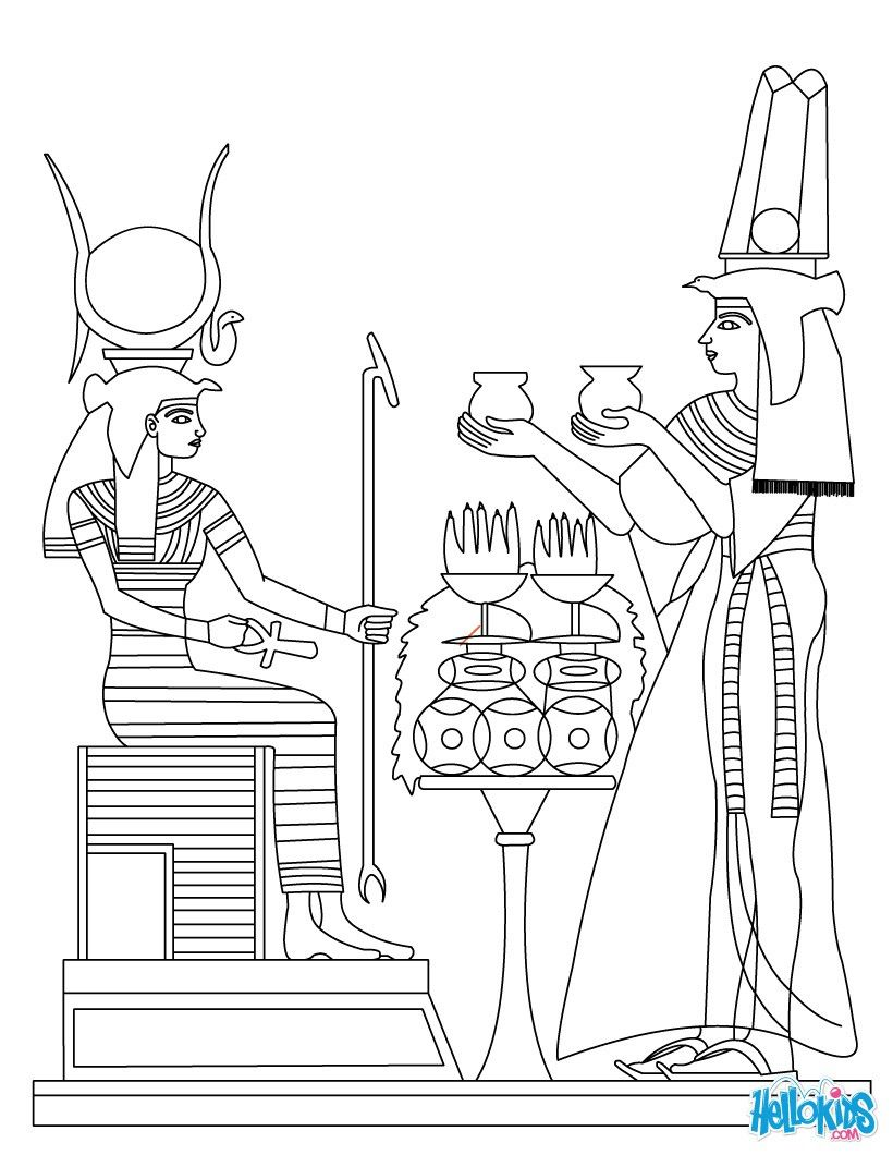 ANCIENT EGYPT ART Coloring Page