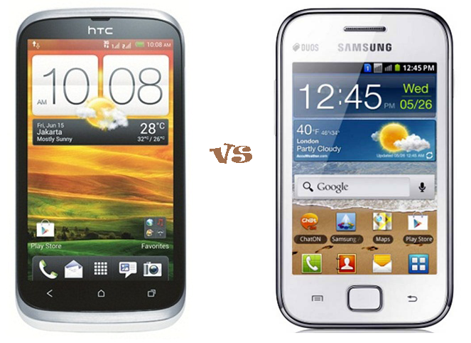 HTC Desire V vs Samsung Galaxy Ace Duos S6802 | Techno Stall