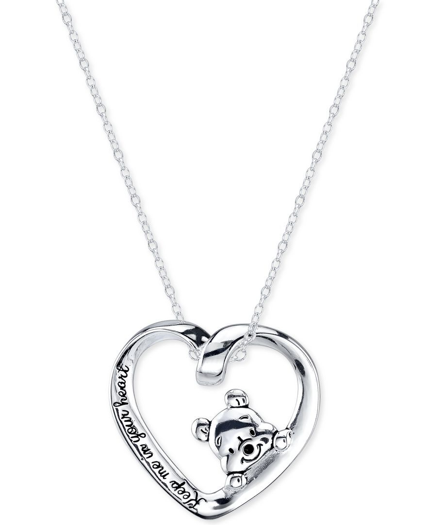 2a9dfff88 Disney Heart Pooh Pendant Necklace in Sterling Silver | Disney in ...