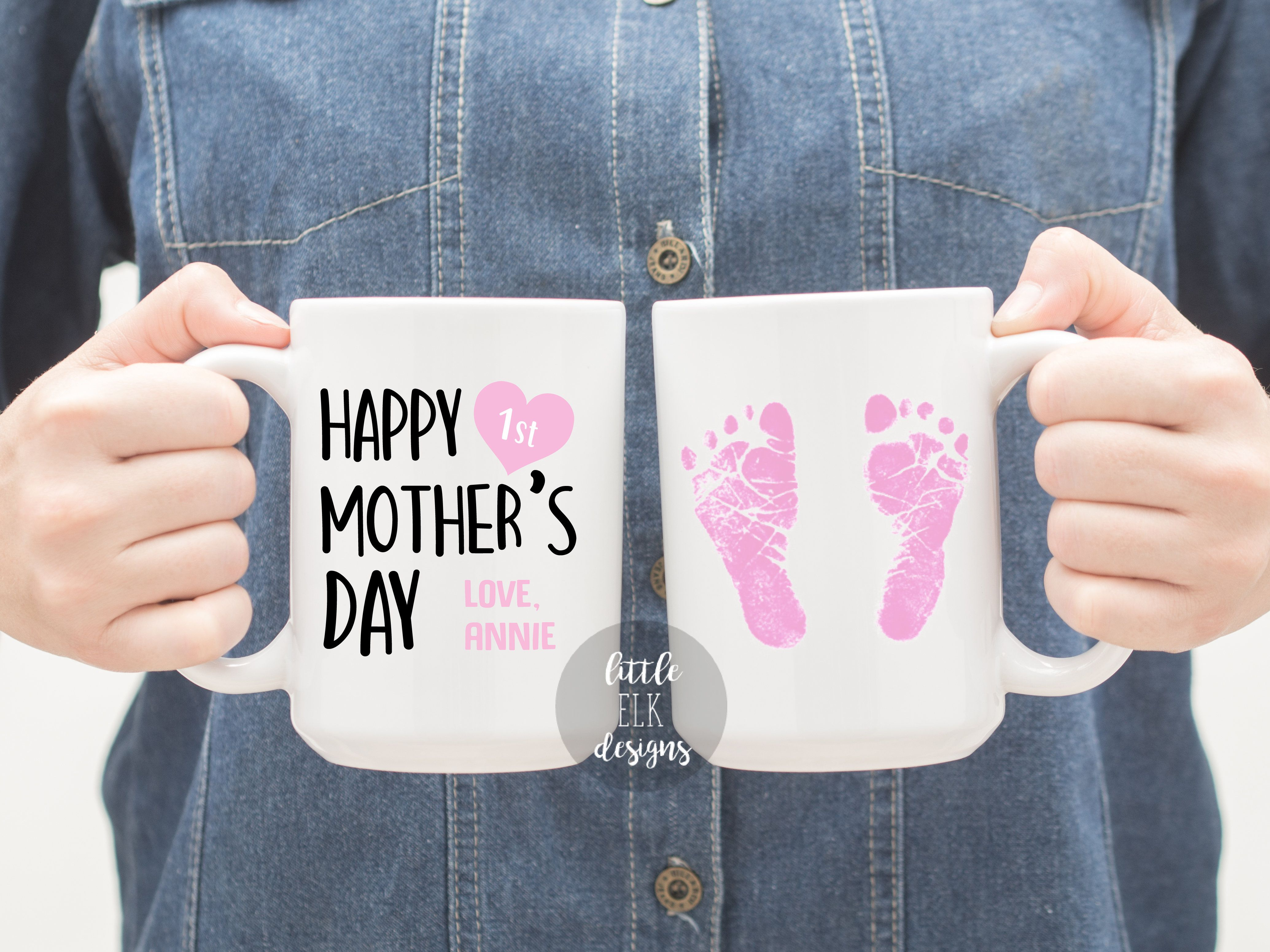 Custom happy 1st mothers day from daughter coffee mug