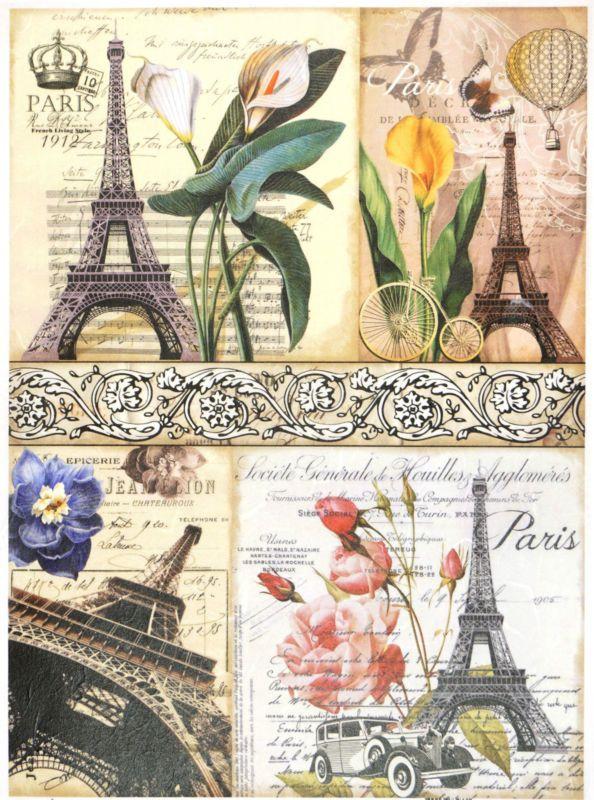 Rice Paper for Decoupage  Decopatch  Scrapbooking Sheet Craft Love Paris M