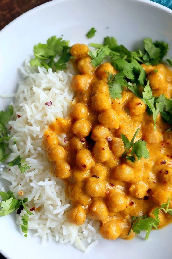 Mango Curry Chickpeas Przepis Jedzenie Przepisy Kulinarne I Smakolyki