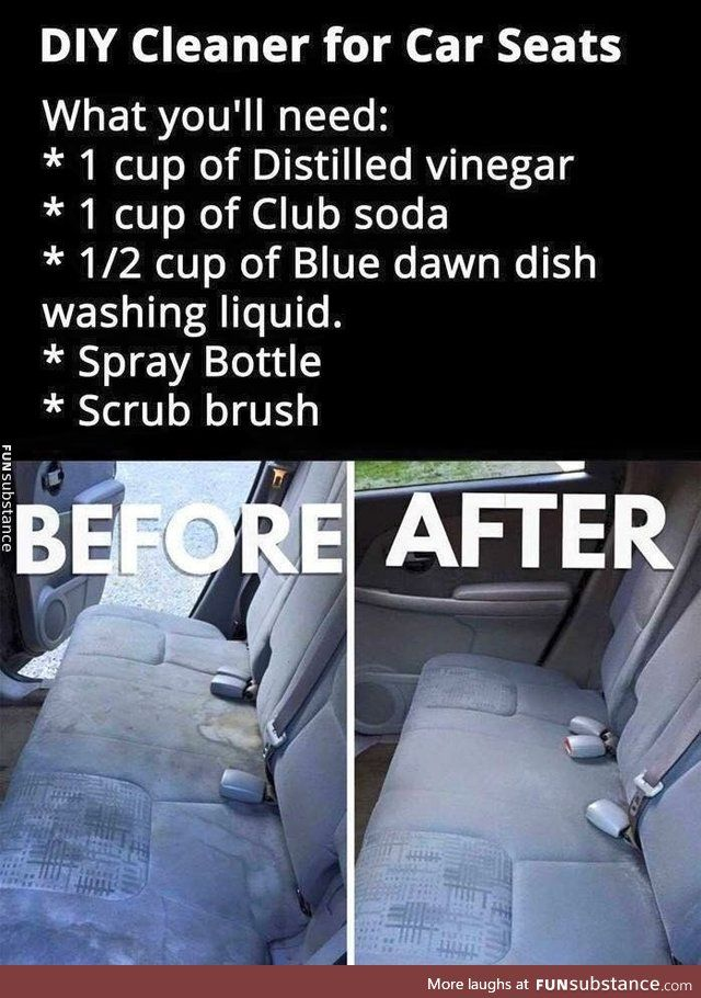 Diy Clean Your Car Seats Diy Cleaners Car Cleaning