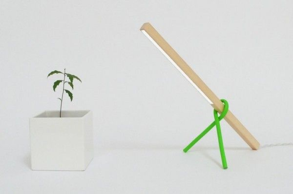 Super Simple Desk Lamp With Wood Stick Frame 1 X 1 Led Desk Lamp Desk Lamp Modern Desk Lamp Simple Desk