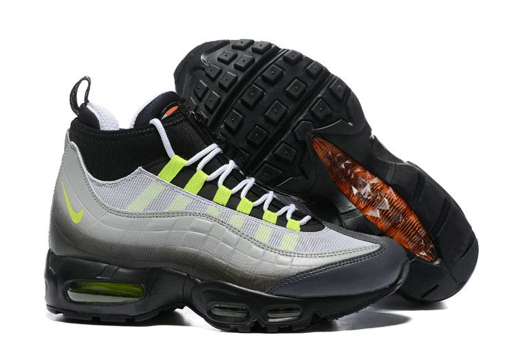 quality design f7095 e6f75 2018 Genuine Nike Air Max 95 SneakerBoot Black Neon Green ...