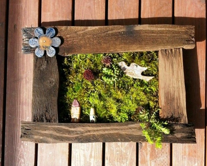 Lustige Gartendeko Selber Machen Sehr Schönes Fenster Aus Brettern Gemacht