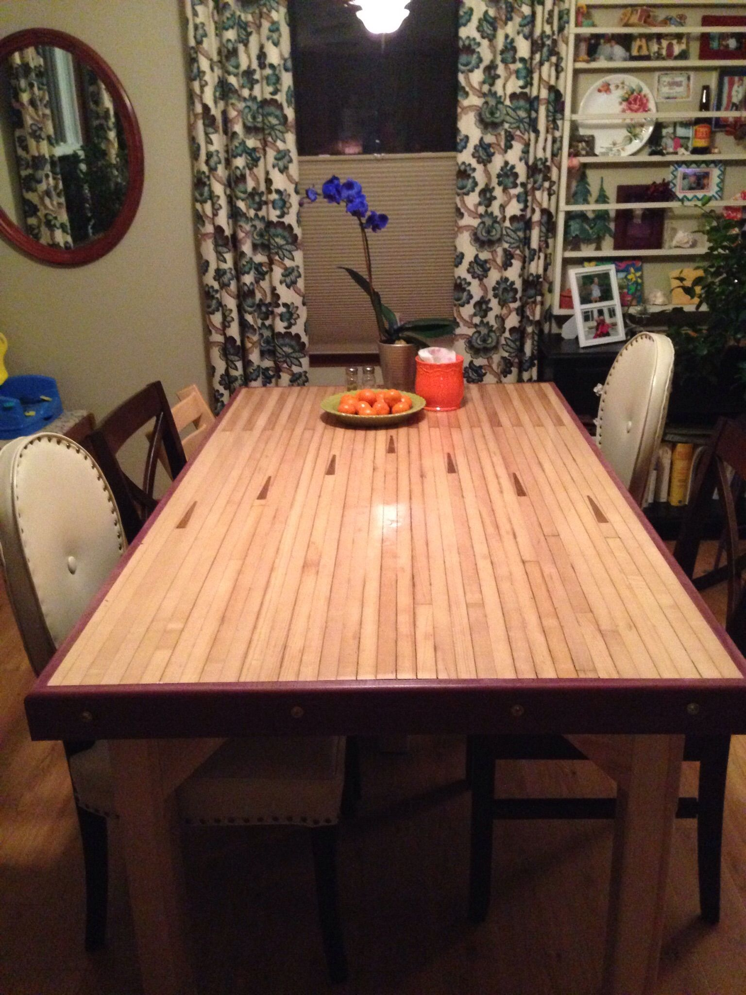 purple heart wood furniture. The Table That Kent Built. It\u0027s A Bowling Alley Lane With Purple Heart Wood Trim! Furniture C