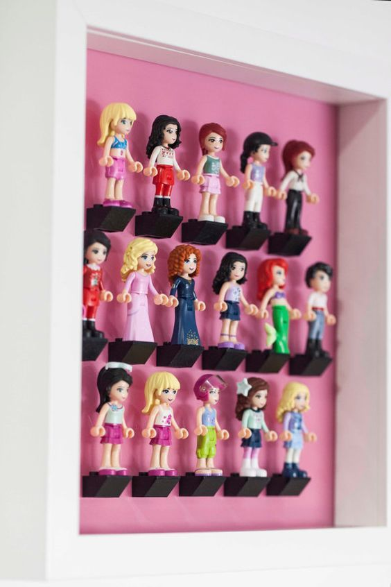Lego friends 16 minifigure Acrylic mount insert for IKEA RIBBA frame ...