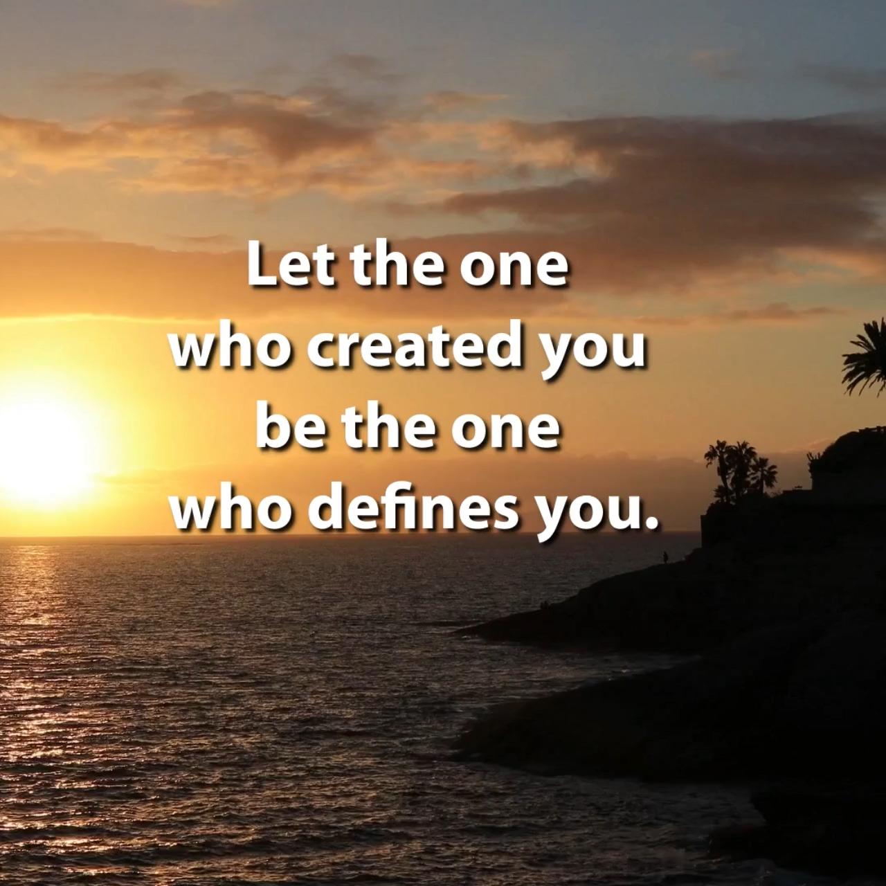 Let God Define You