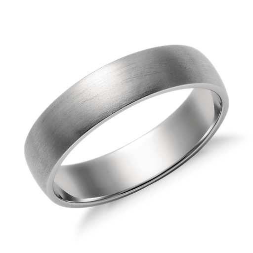 Matte Classic Wedding Ring In Platinum 5mm Blue Nile Platinum Wedding Rings Mens Wedding Rings Classic Wedding Rings