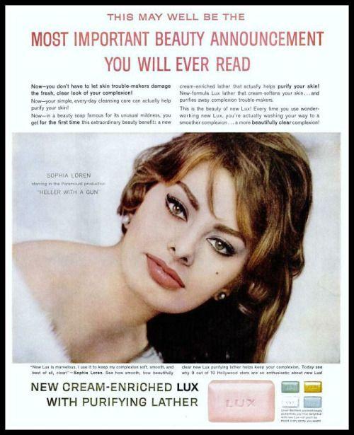 1960 Soap  ad with  Sophia Loren
