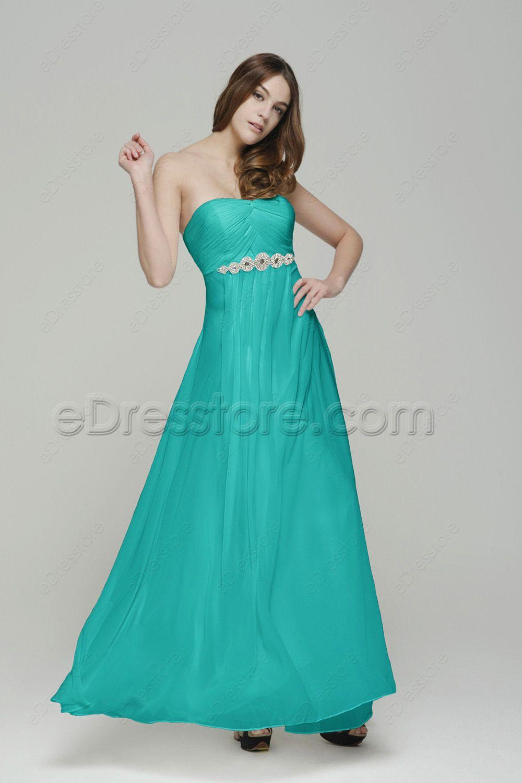 Jade Green Long Bridesmaid Dresses Maid of Honor Dresses | Jade ...
