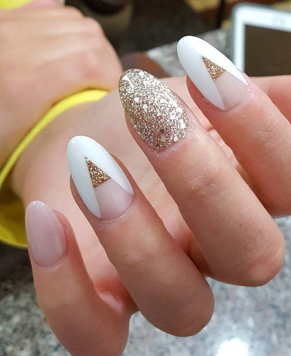 50 Oval Nail Art Ideas - 50 Oval Nail Art Ideas Oval Nails, Manicure And White Gold Nails