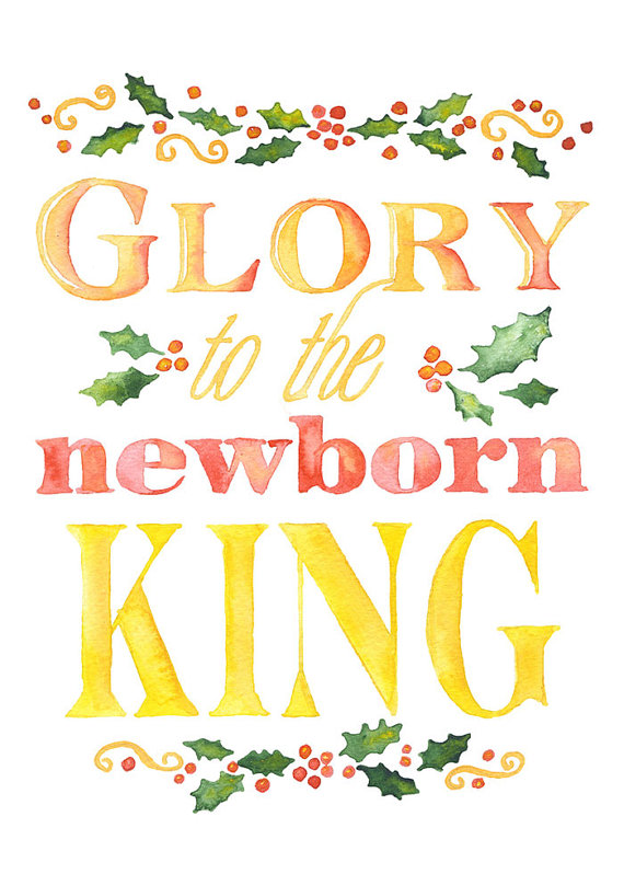 christian christmas card set of 10 watercolor by susanwindsor - Christian Christmas Cards