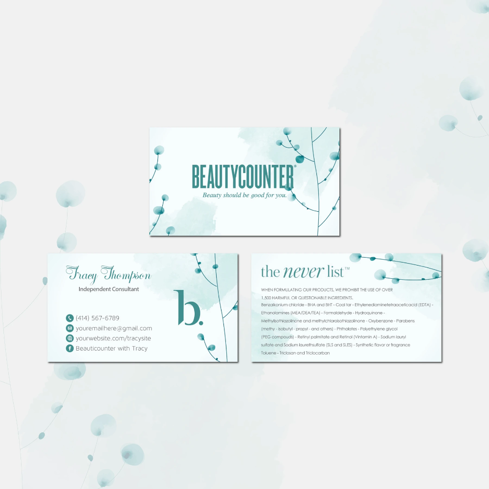 Beautycounter Business Cards Personalized Beautycounter Cards Bc35 Beautycounter Business Printable Business Cards Printable Cards