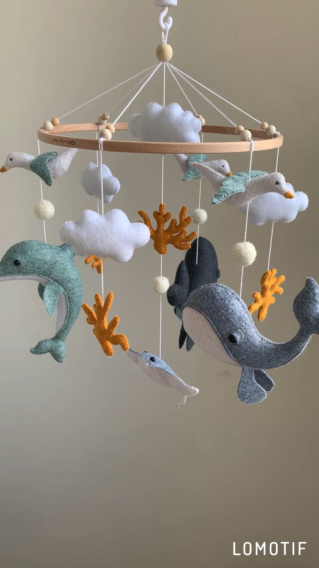 Photo of Ocean Baby Mobile, Whale baby mobile, nursery decor, baby shower gift, baby boy mobile