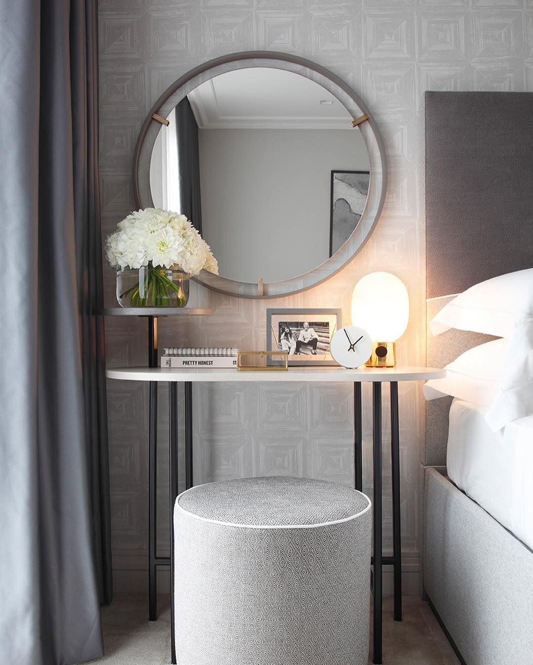 Dressing table area at our recently photographed master bedroom