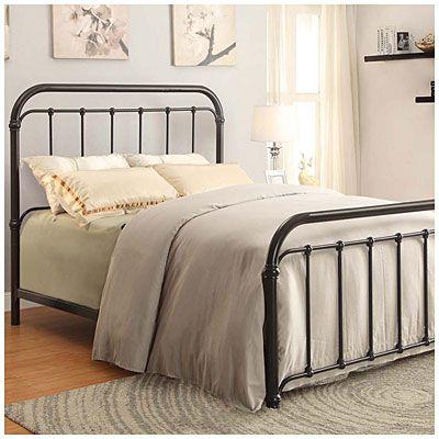 Queen Size Black Metal Bed At Big Lots Cottage Bedrooms