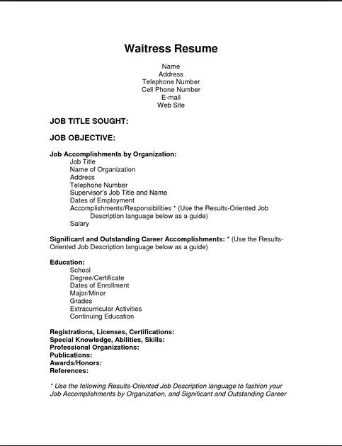 Simple Resume Template Resume Example Resume Skills List Server Resume Resume Skills