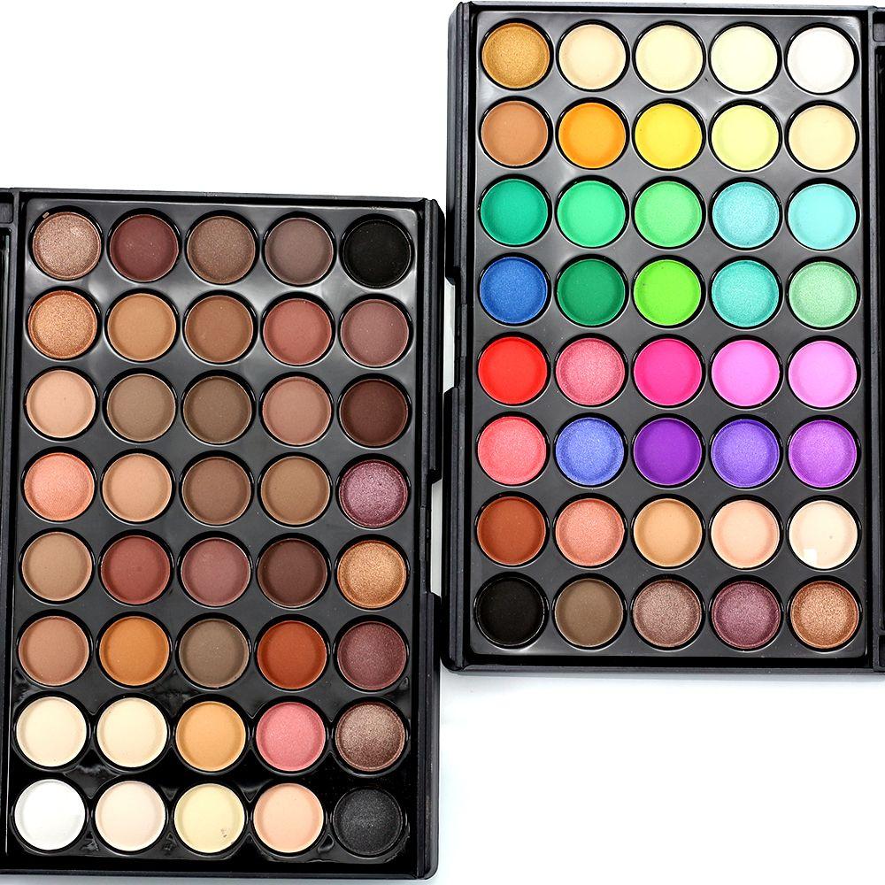 40 Cores Matte Eyeshadow Palette Nu Terra Cor Shimmer Glitter Poder da terra Da Sombra de Olho Conjunto de Cosméticos Ferramentas de Maquiagem Make Up E40 #