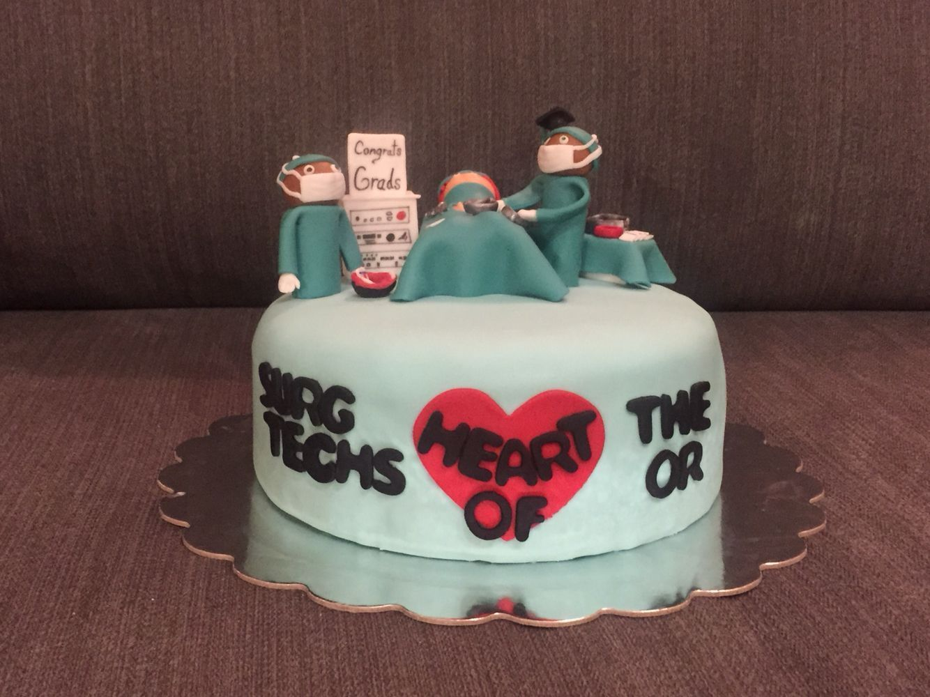 Surgical Technologist Graduation cake by DodiCakes
