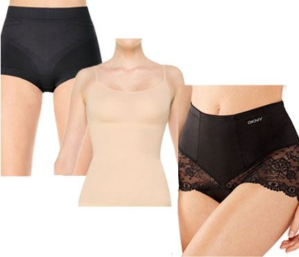 7369bb1885de3 Ways to Hide a Muffin Top  Consider Undergarments. Slimming ones really do  work. Get a Spanx camisole