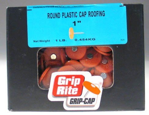 Grip Rite 1 Lb 1 1 4 Plastic Cap Roofing Nails 114prcap1 Visit The Image Link More Details With Images Roofing Nails Plastic Caps Galvanized