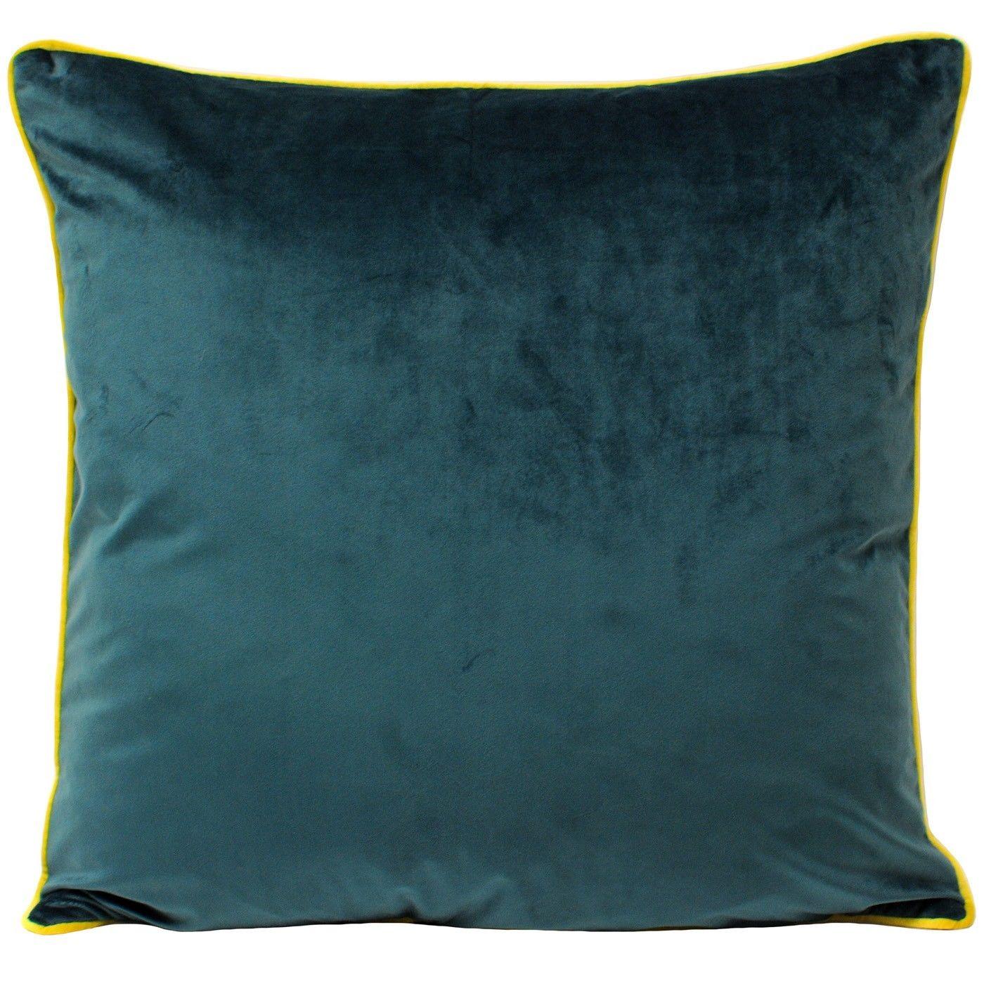 gbp large velvet feel cushion cover teal green with cylon