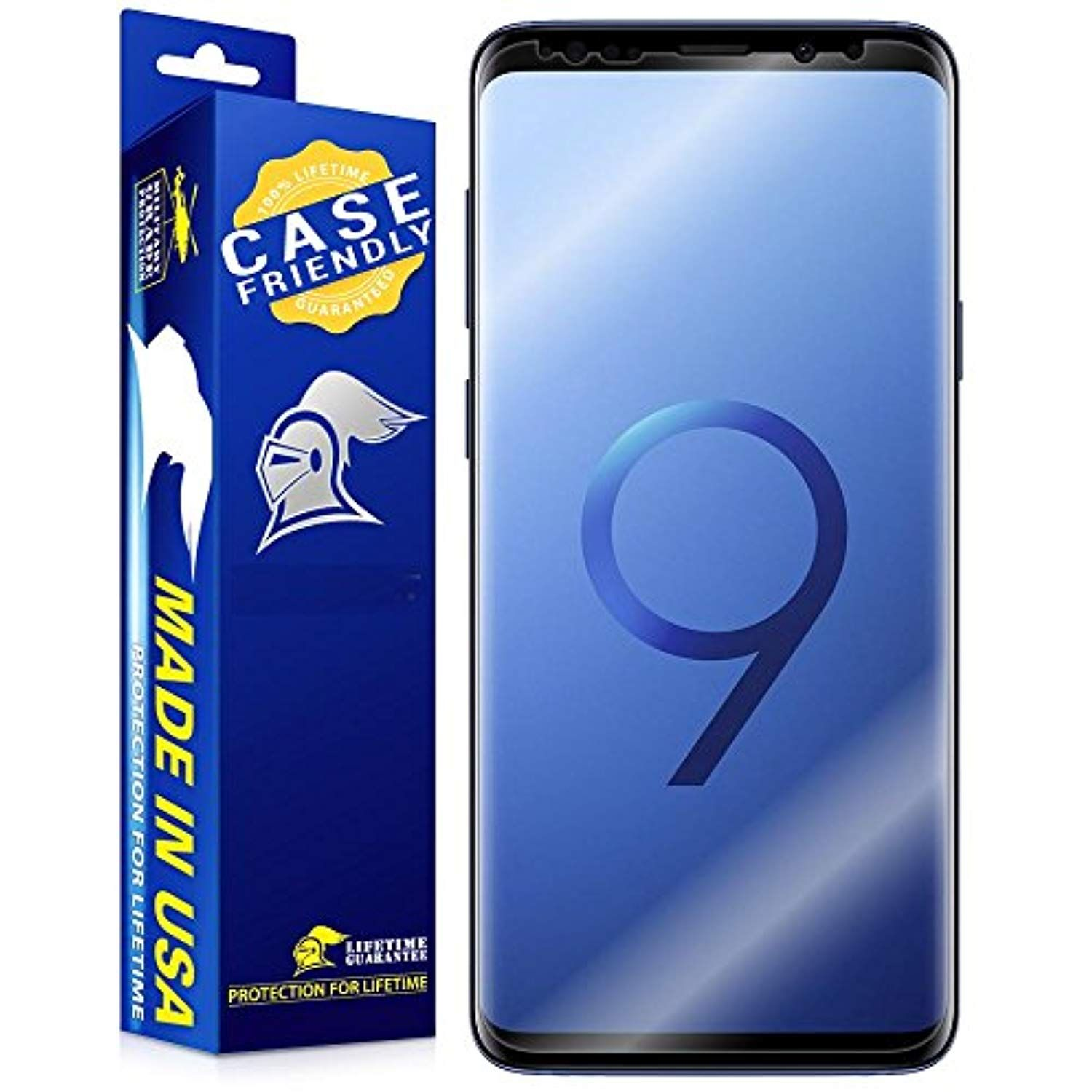 Samsung Galaxy S9 Plus Screen Protector [Case Friendly] ArmorSuit MilitaryShield Case Friendly Screen