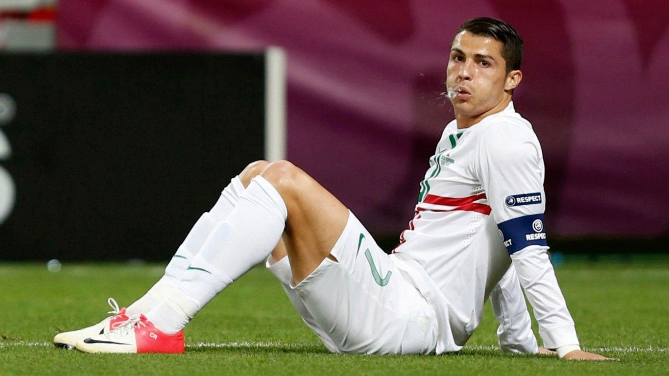 Handsome Cristiano Ronaldo Football Player Wallpaper