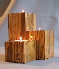 wooden candlestick holders - Google zoeken