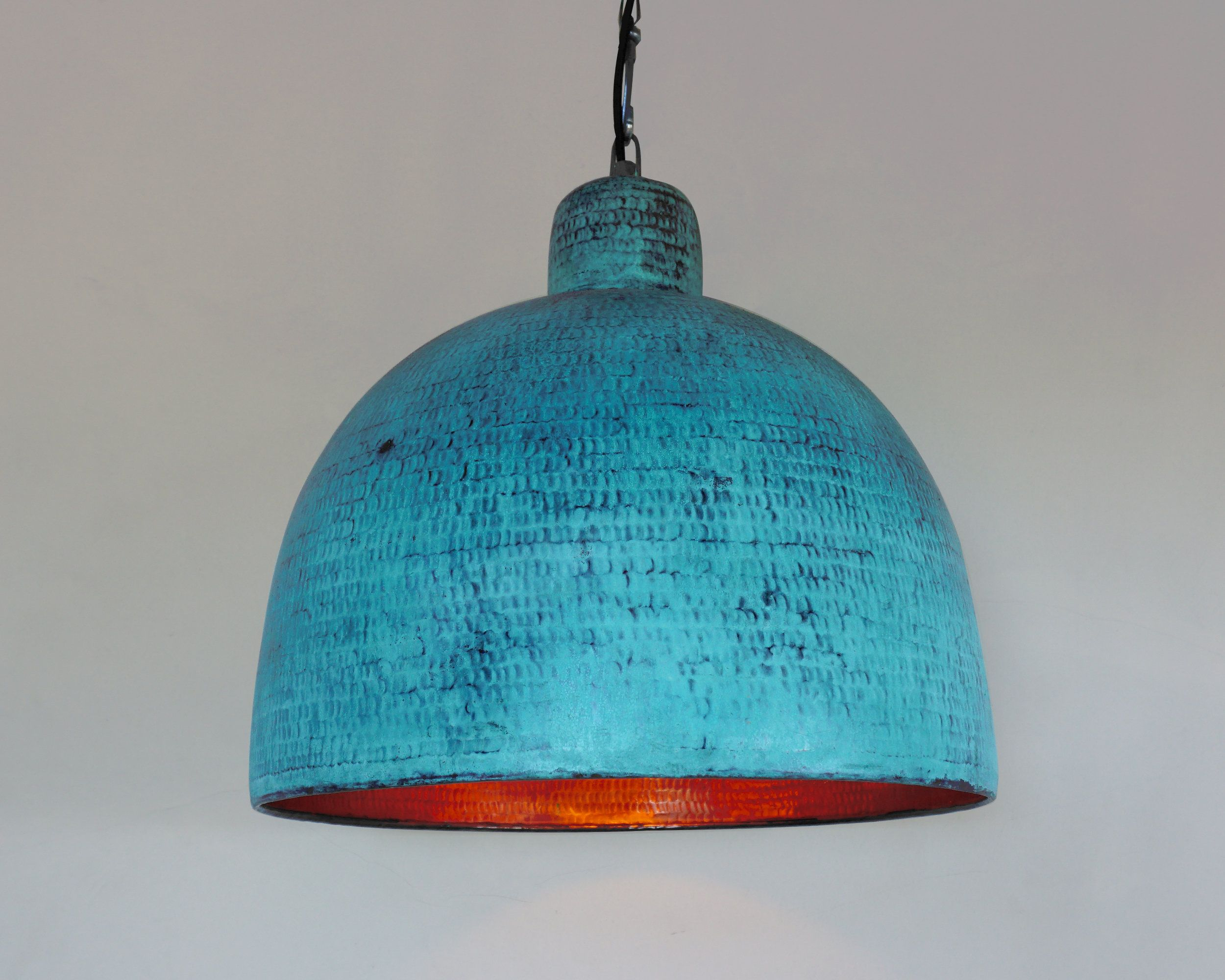 Oxidized Copper Pendant Light Hammered Green Patina Lamp Copper Industrial Lamp Copper Kitchen Copper Pendant Lights Art Deco Light Fixture Pendant Light
