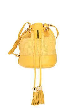 See by Chloé - Sac - Sac seau jaune cuir nid d abeille Solange  594b17ac135