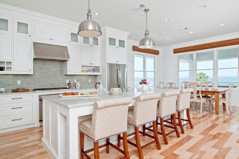 White Beach Kitchen Soft And Serene Beach Kitchens Kitchens And