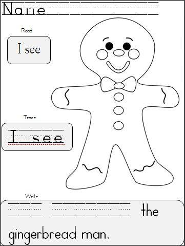 Kindergarten Gingerbread Writing | Gingerbread man ...