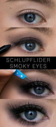 Smoky Eyes für Schlupflider - Tipps, Tricks und Tutorial   Carina Teresa #beautyeyes