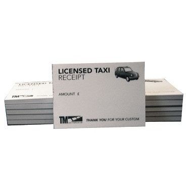 Licensed Taxi Receipt Pads (50 Sheets Per Pad) For All Black Cab Drivers and London Cab Drivers