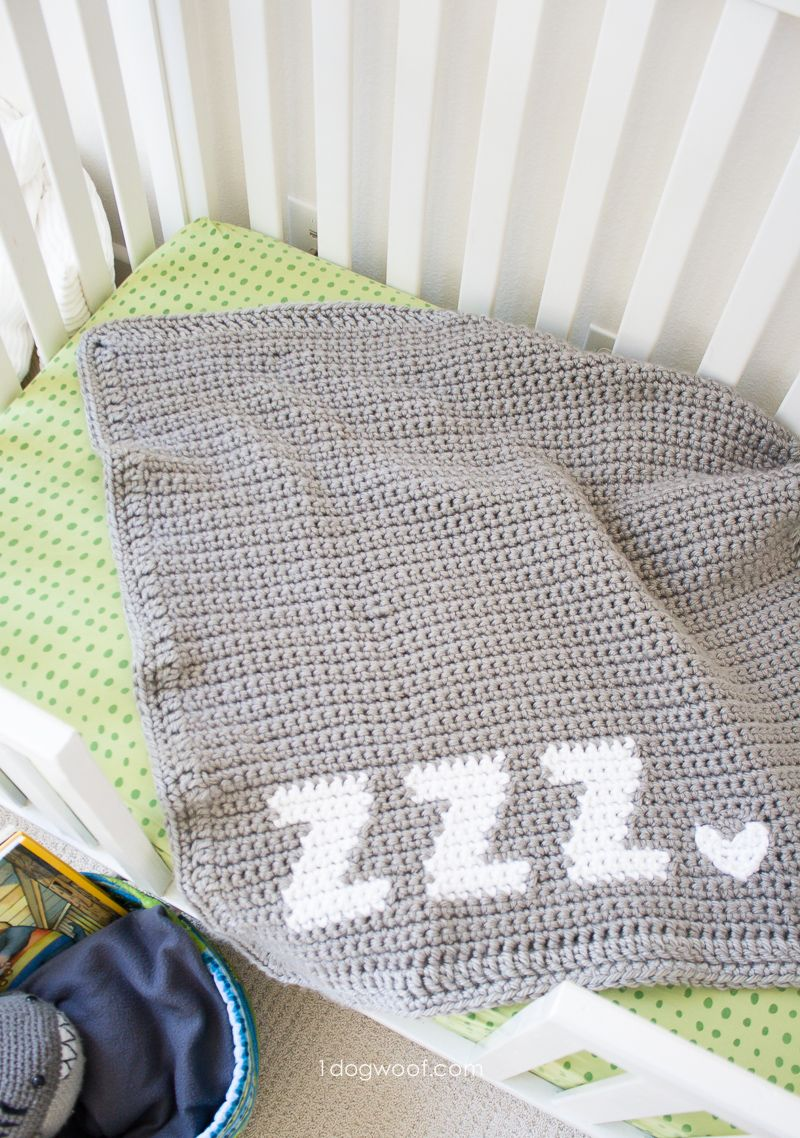 Get Some Zzz's Crochet Baby Blanket #c2cbabyblanket