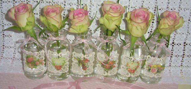 Seis rosas rosa