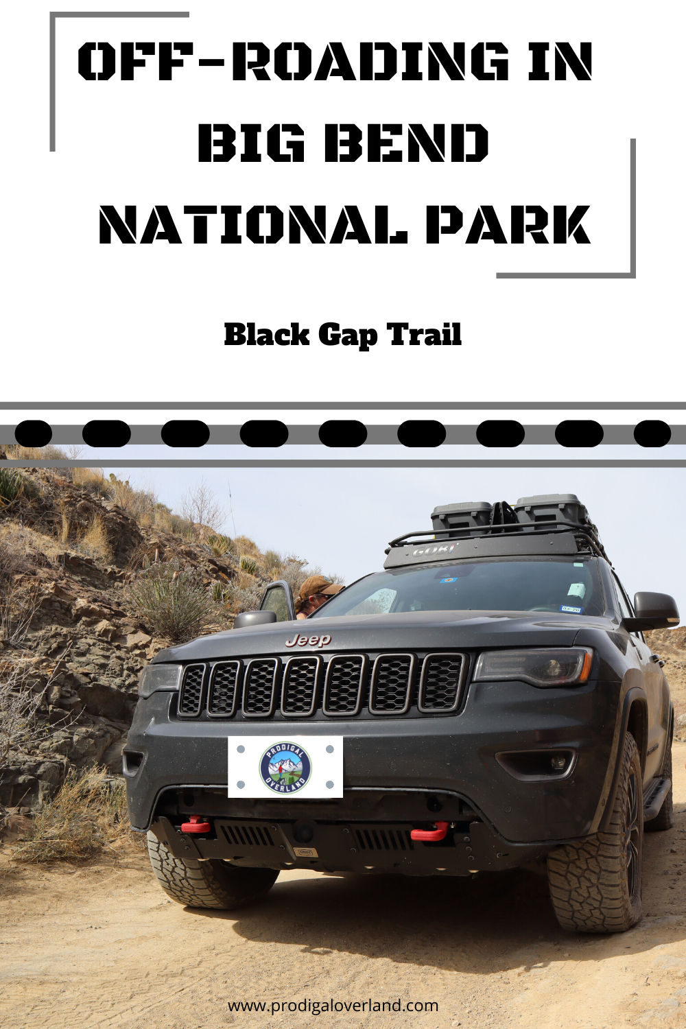 Brad With Prodigal Overland Take His Jeep Grand Cherokee Trailhawk Wk2 On This Jeep Badge Of In 2020 Big Bend National Park Jeep Grand Cherokee Trailhawk