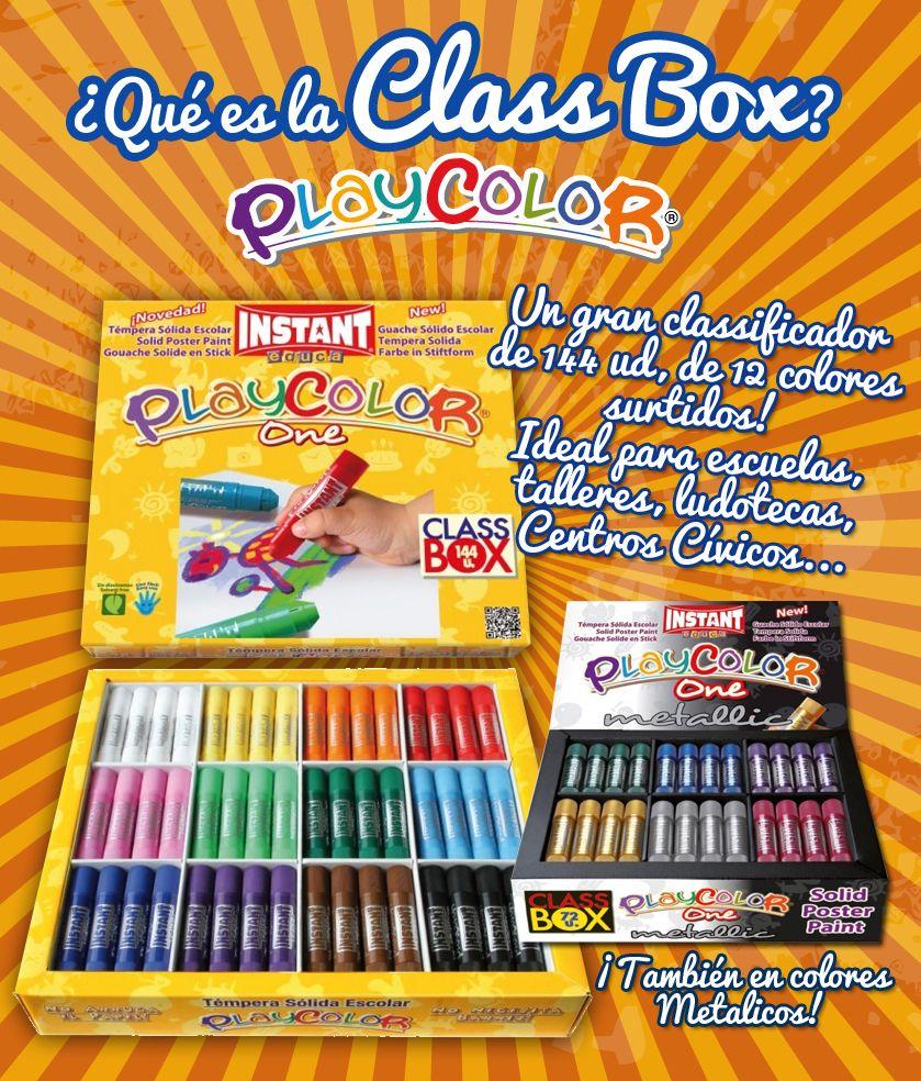 Class Box, Playcolor, instant, dibujar, pintar, dibujo infantil, témpera sólida, children, draw